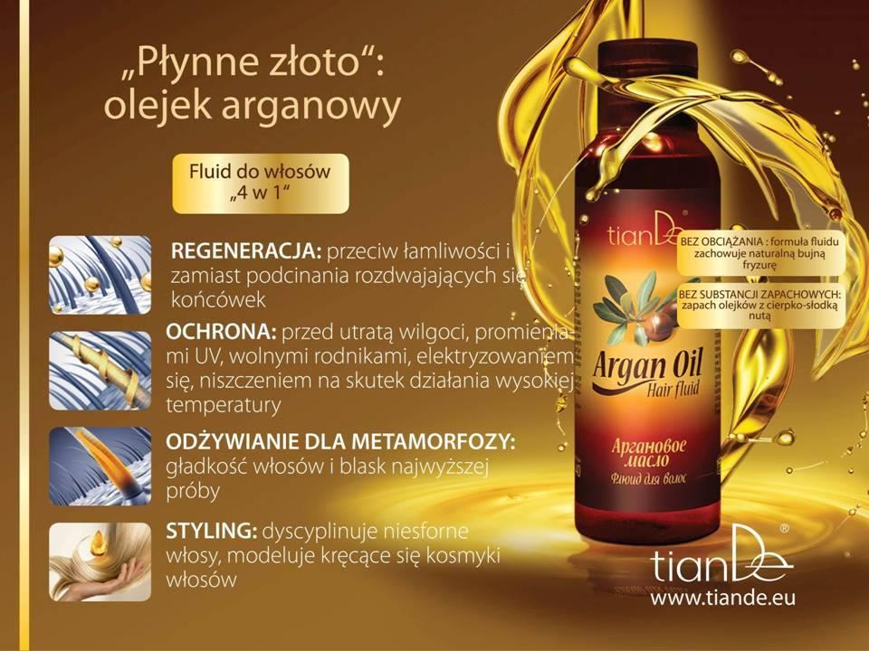 Płyn do włosów z oleju arganowego TianDe - Nowości Tiande Kołobrzeg